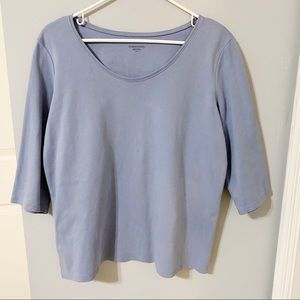 Eileen Fisher 3/4 Sleeve Top- Size Large